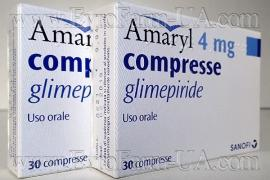 Амаріл №30 таблетки Глімепірид 4 мг швидка доставка