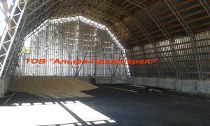 Ангари для зерна, виготовлення та будівництво зерносховищ