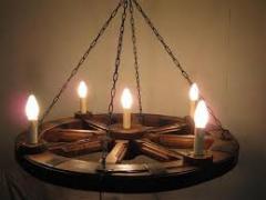 Бра, люстри, світильники, торшери з дерева під старовину