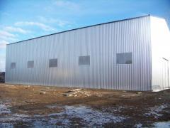 Будівництво складського приміщення. Монтаж металоконструкцій