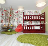 Двох'ярусне ліжко Спринт з натурального дерева
