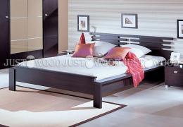 Двоспальне ліжко Да Вінчі з натурального дерева