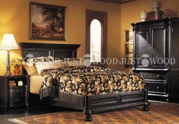 Двоспальне ліжко Флоренція з натурального дерева
