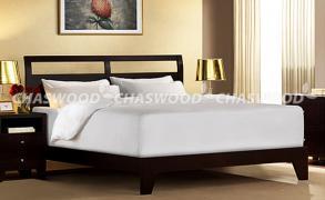 Двоспальне ліжко Карделія з натурального дерева