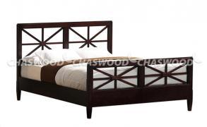 Двоспальне ліжко Класик з натурального дерева