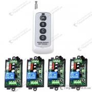 Комплект з 4 приймачів і пульта для управління электроустройст