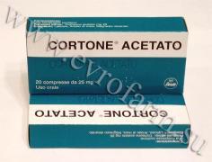 Кортизон №25 тбл Кортизону Ацетат купити в Україні