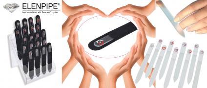 Кришталеві пилочки для нігтів серія Сердечко