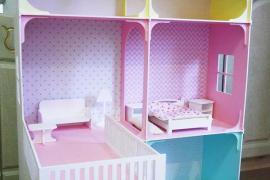 Ляльковий будиночок з дерева ексклюзивного дизайну