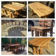 Меблі для кафе, столи, стільці, лавки з дуба