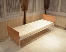Metal beds, mattresses, cabinets, wardrobes