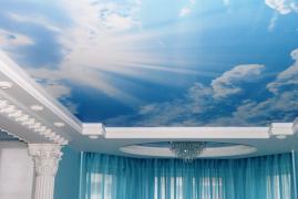 Натяжні стелі. небо в подарунок. Акція