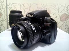 Nikon D3100 kit(18-55mm VR)+об'єктив AF Nikkor 50mm f/1.4 D+подар