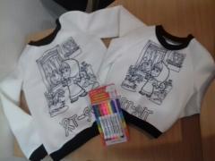 оптом подарункові набори свитшотов розмальовок Мама+дитина