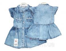 Плаття дитяче джинсове на літо SANI оптом