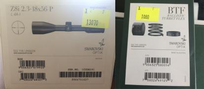 Продам Swarovski Z8i 2,3-18x56 L сітка 4A-I + одна BT турель + м