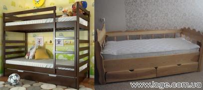 Продаєм ліжка-машинки, одно-, дво - та триярусні дитячі ліжка з н