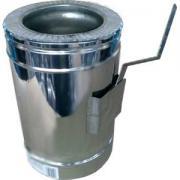 Регулятор тяги димохідний нержавійка з теплоізоляцією в Нержавій