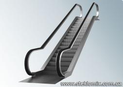 Скляні огорожі для ескалаторів і підйомників, скло на е