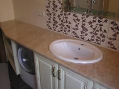 Стільниця мармурова, столик у ванну з мармуру — 3 500 грн