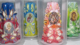 Свічки з логотипом, фото, рекламою оптом і в роздріб