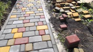 Тротуарна Плитка Старе Місто,Цегла,Бордюри