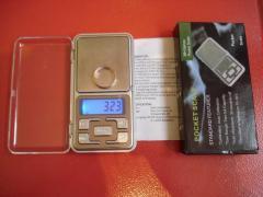 Ваги електронні 500 гр 0.1 +кишенькові +ювелірні