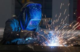 Welder at Flextronics manufacturing (Poland)